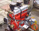 Picture of Volvo Penta engine with 2 Solex marine carburetors